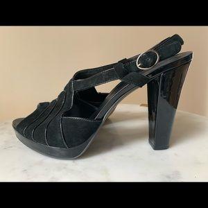 BANANA REPUBLIC Black Suede Heels with Platforms